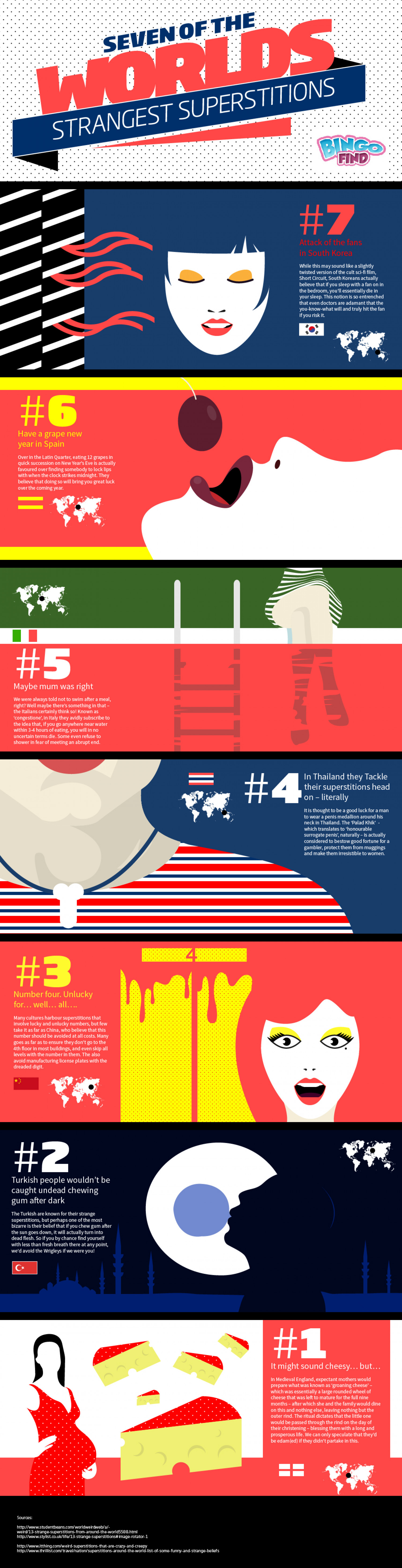 Seven of the Worlds Strangest Superstitions Infographic