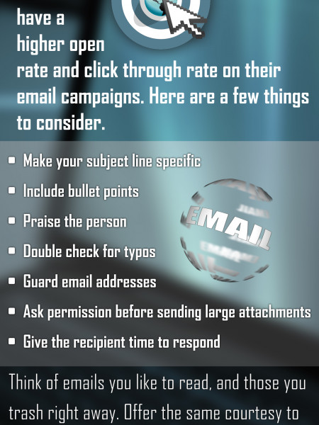 Seven Rules to Follow When Sending Emails Infographic