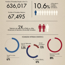Shedding Light on America's Homeless Veterans Infographic