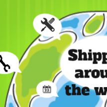 Shipping around the world Infographic