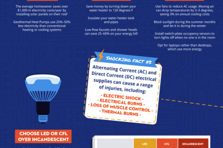 Shock Value: Electricity Costs, Hazards, and Savings Infographic