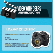 Shooting Video with DSLRs - An Introduction Infographic