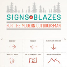 Signs and Blazes for the Modern Outdoorsman Infographic