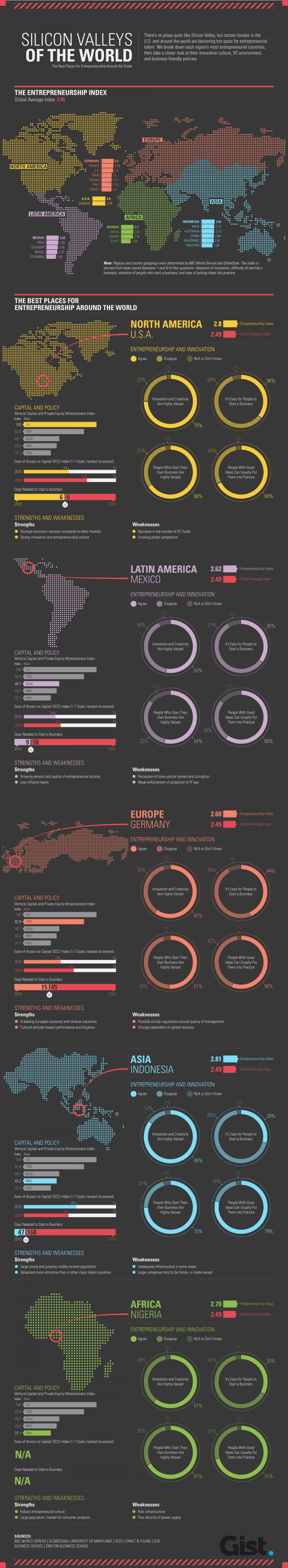 Silicon Valleys of the World Infographic