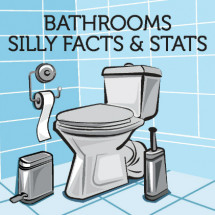 Silly Bathroom Facts Infographic