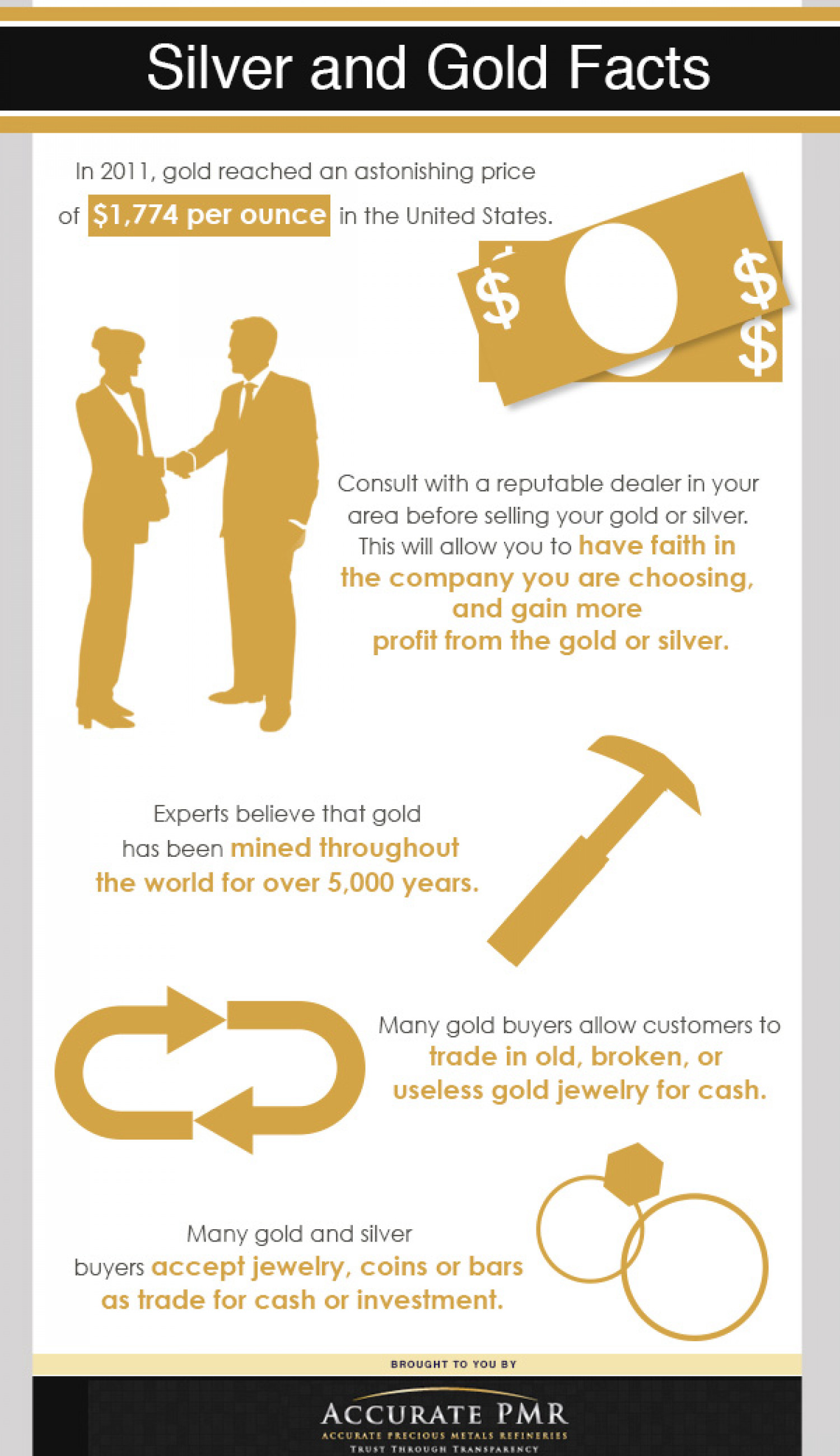 Silver and Gold Facts Infographic