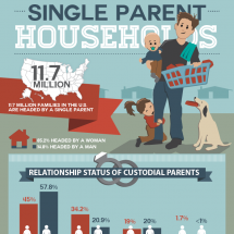 Single Parent Households Infographic