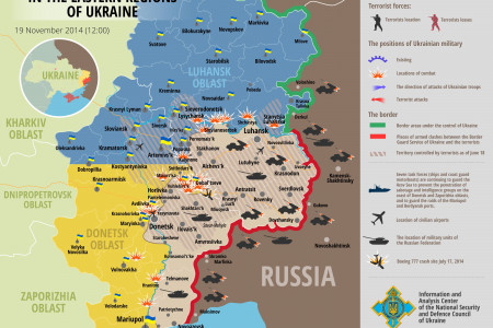 Situation in eastern Ukraine, November 19  Infographic