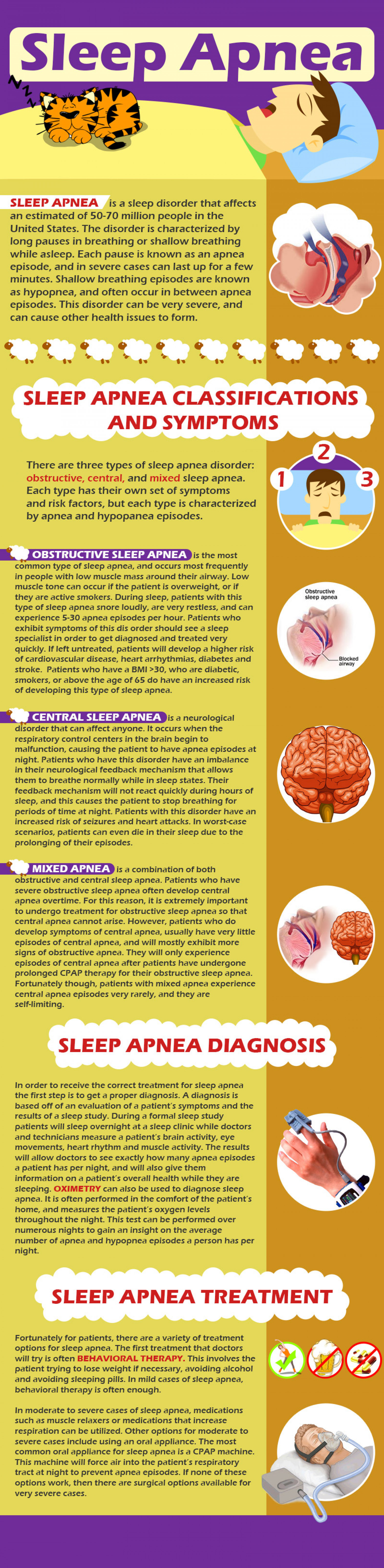 Sleep Apnea Symptoms and Treatment Infographic