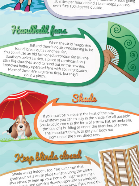 Smart Ideas to Beat the Summer Heat Infographic