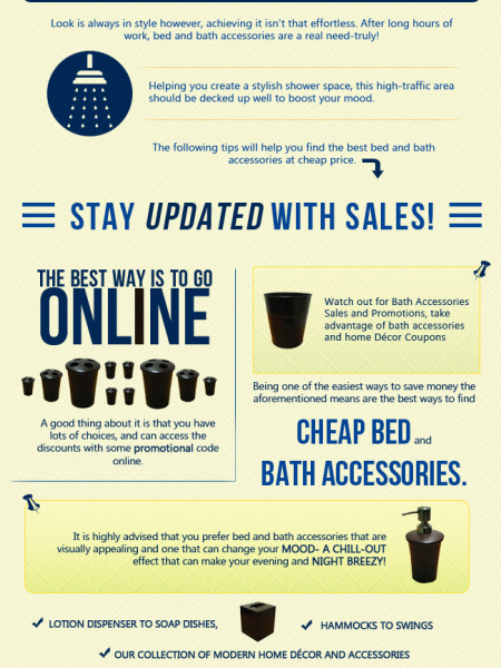 Smart tips to select a best bed and bath accessories at cheap price. Infographic