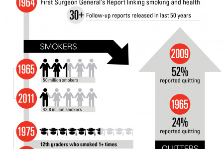 Smoking's 50-year Decline Infographic