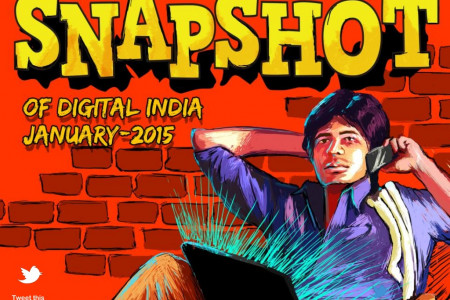 Snapshot of Digital India: January 2015 Infographic