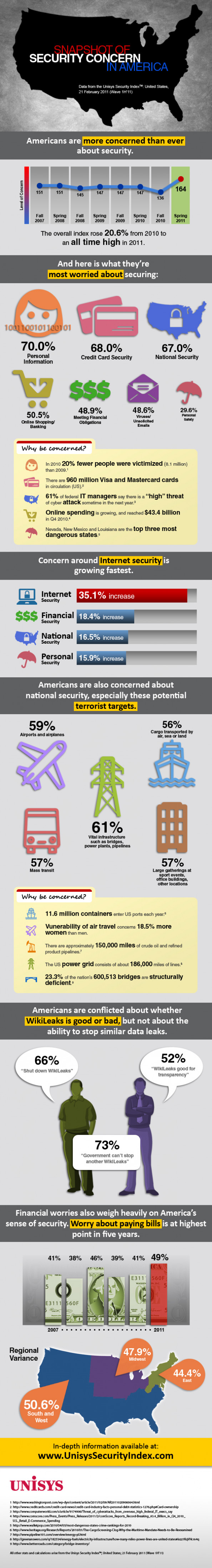 Snapshot of Security Concern in America Infographic