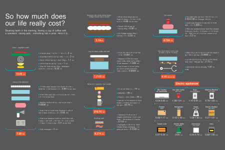 So how much does our life really cost? Infographic