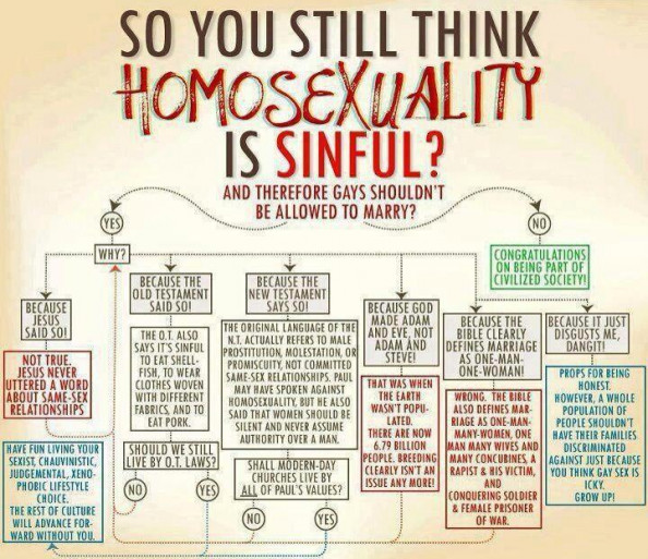 So you still think homosexuality is sinful? Infographic