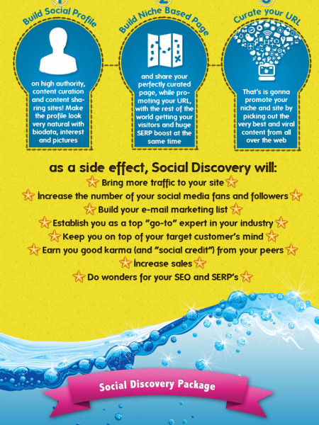 Social Discovery: Niche Based Link Building Infographic