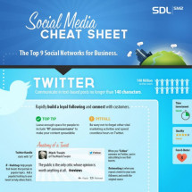 Social Media Cheat Sheet For Business Owners Infographic
