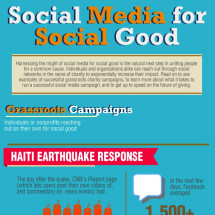 Social Media for Social Good Infographic
