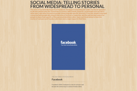 Social Media: From Widespread to Personal Infographic