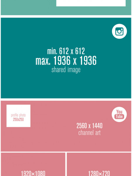 Social Media Sizing Cheat Sheet - 2014 - Edition 03 Infographic