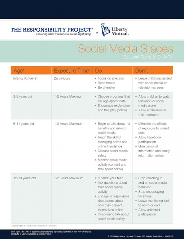 Social Media Stages  Infographic