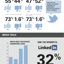 Social Media Tactics in B2B Marketing Infographic