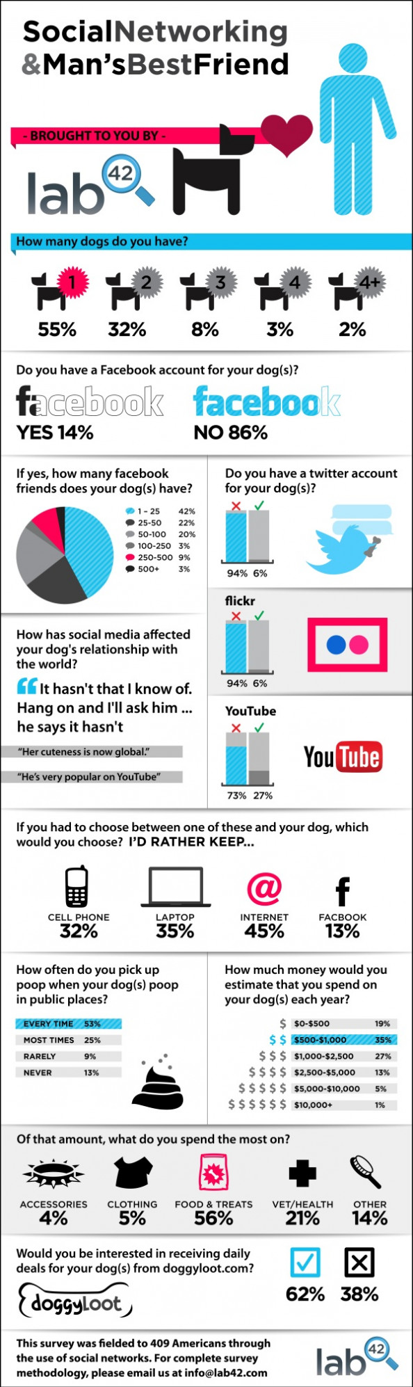 Social Networking and Man&#039;s Best Friend Infographic