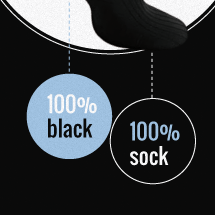 socked.co.uk black sock infographic Infographic