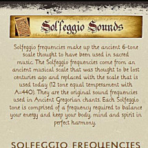 Solfeggio Frequencies Infographic