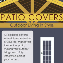 Solid Patio Covers: Outdoor Living in Style [Infographic] Infographic