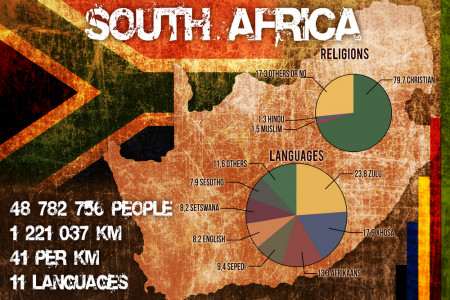 South Africa Demography Infographic