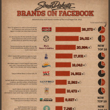 South Dakota Brands on Facebook Infographic