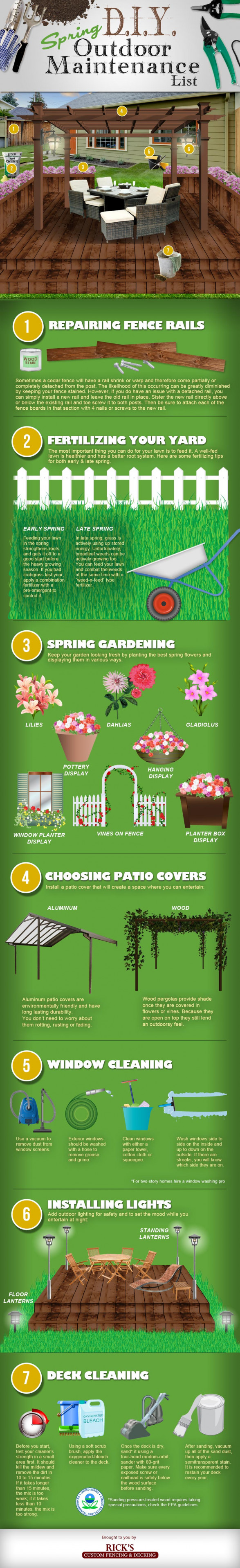 Spring DIY Outdoor Maintenance List