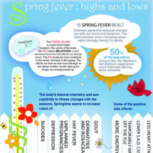Spring Fever : Highs and lows Infographic