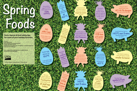 Spring Foods Infographic