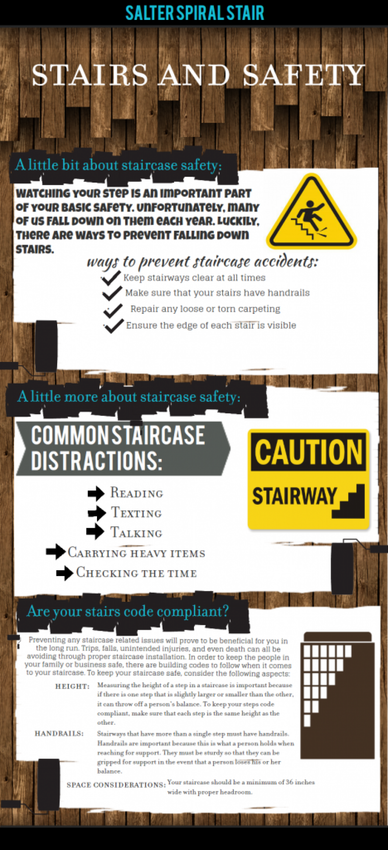 Stairs and Safety Infographic