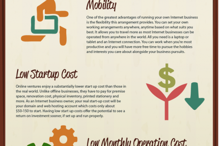 Starting  an Online Business  Infographic