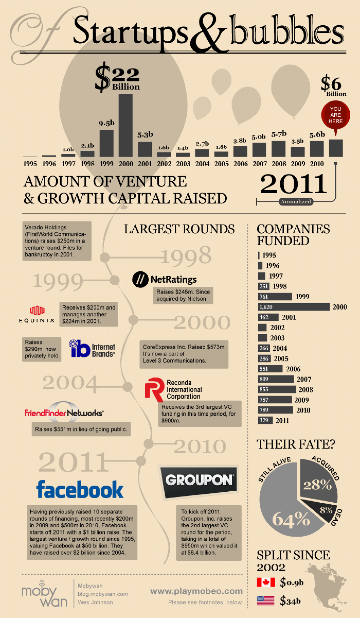 Startups and Bubbles Infographic