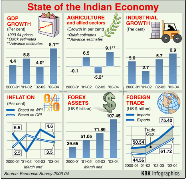 State of the Indian Economy Infographic