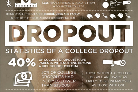 Statistics of a College Dropout Infographic