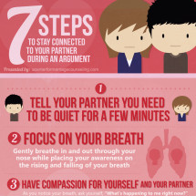 Stay Connected During an Argument Infographic