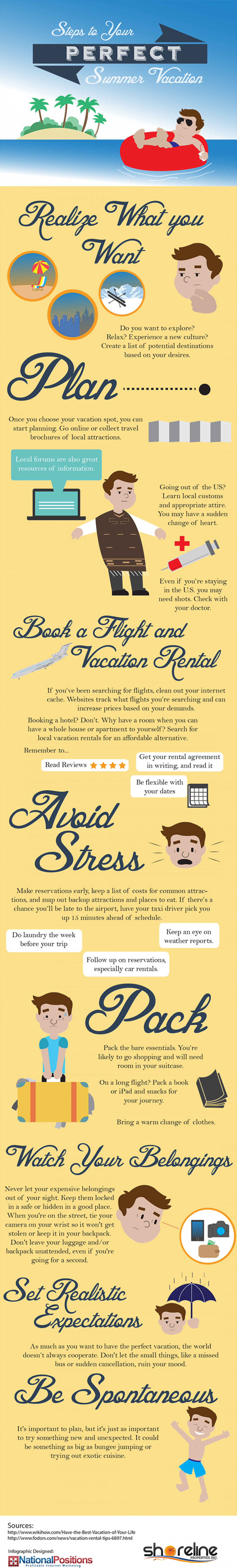 Steps to Your Perfect Summer Vacation Infographic