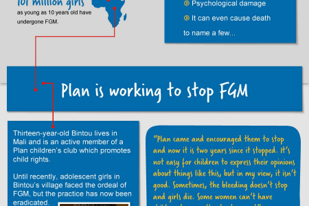 Stop Female Genital Mutilation (FGM) Infographic
