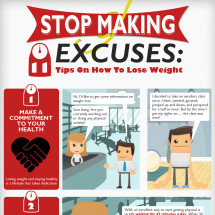 Stop Making Excuses: 11 Tips on How to Lose Weight Infographic