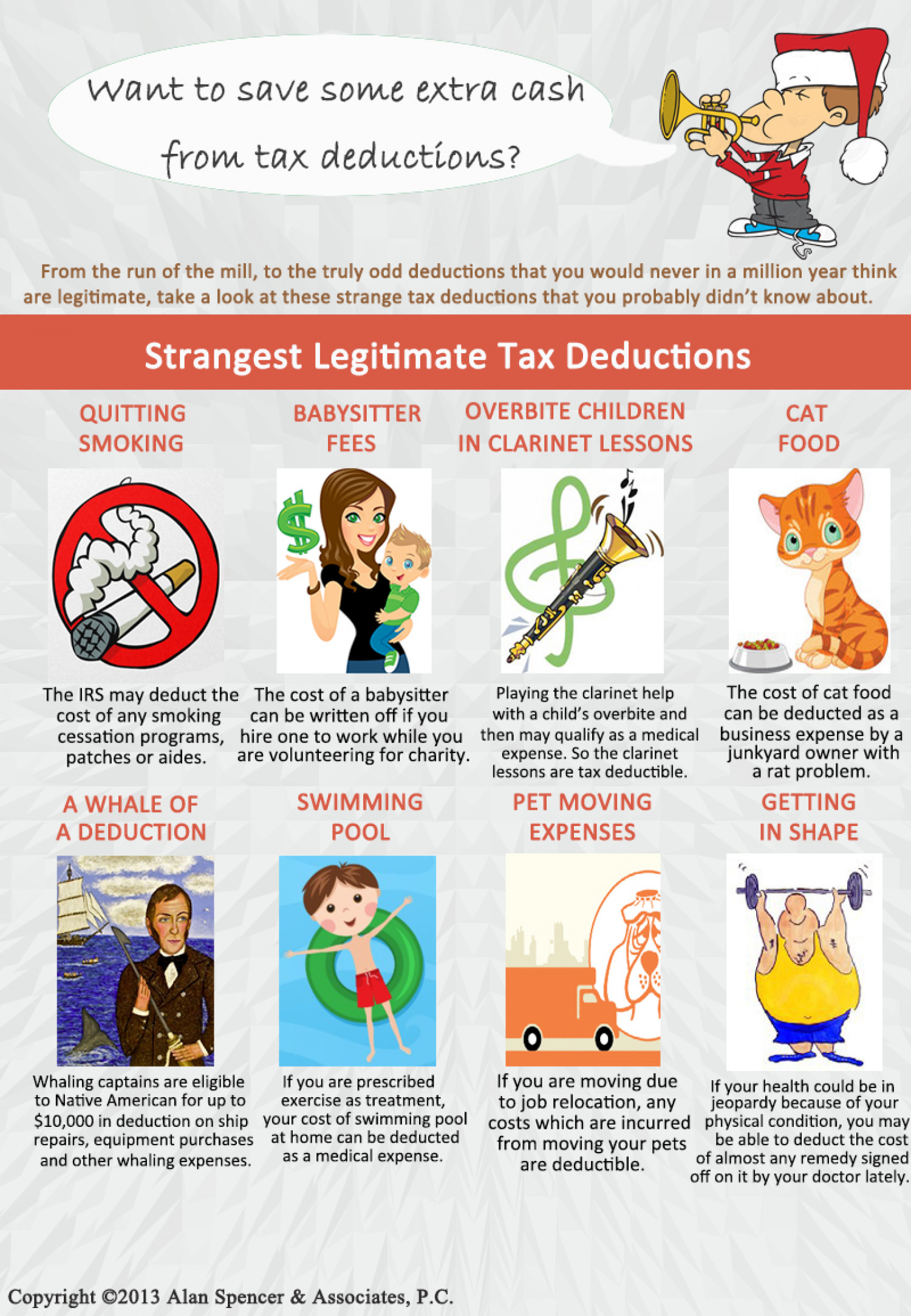 Strangest legitimate tax deductions Infographic