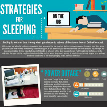 Strategies For Sleeping On The Job Infographic