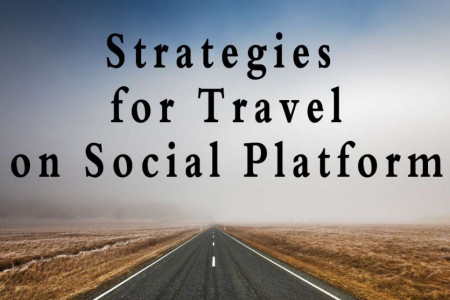 Strategies for Travel on Social Platform Infographic