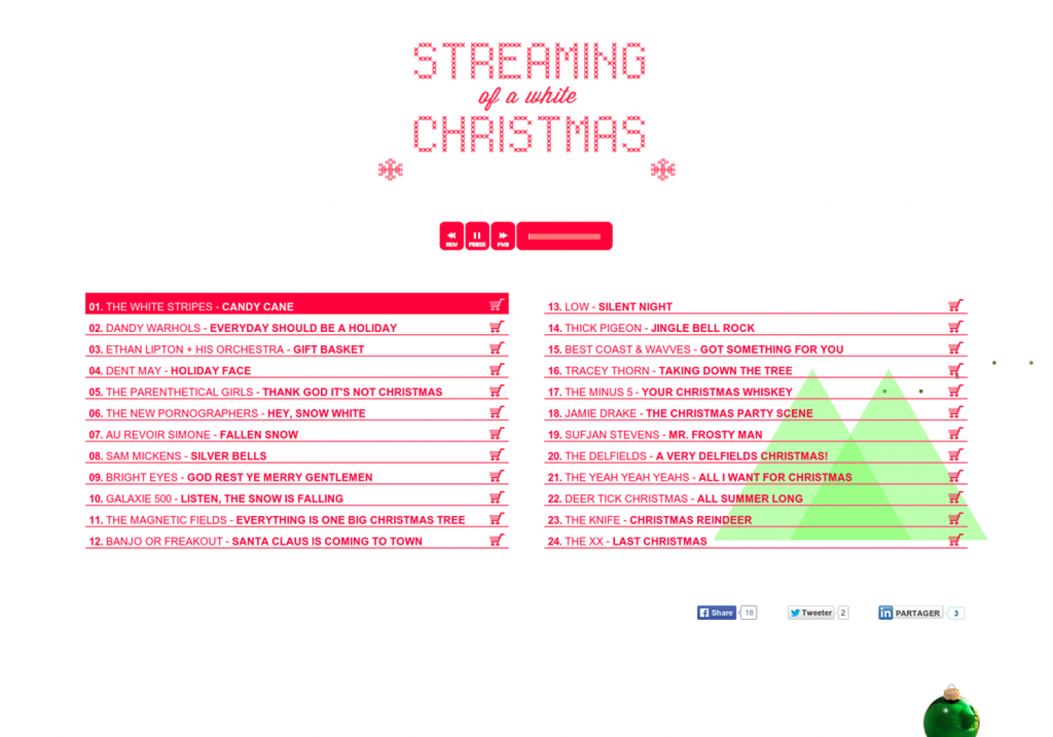 Streaming of a white Christmas Infographic