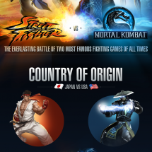 StreetFighter vs Mortal Kombat Infographic